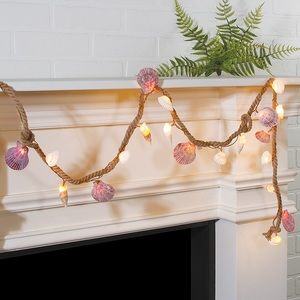 Other - NWT Seashell & led lights garland electric beach